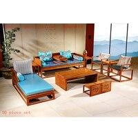 10 шт./компл. античный Ежик палисандр Диван стул набор на заказ красное дерево мебель для гостиной прямоугольник твердой древесины чайный ст...