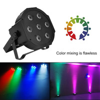 7 X 10W RGBW Super Bright LED Flat Par Light PAR56 DMX LED Stage Wash Lighting