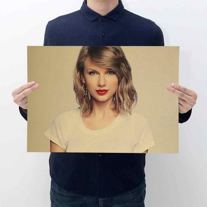 Hollywood bogini gwiazda uroda/papier pakowy w stylu Vintage Hot New plakat artystyczny Top jedwabiu światło płótno wystrój domu ściany obraz wydruki na płótnie