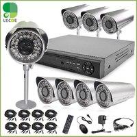 Дома 1200tvl 8ch видеонаблюдения Камера Системы 8ch DVR 1200tvl Открытый День Ночь ИК Камера комплект Цвет Товары теле и видеонаблюдения DVR Системы