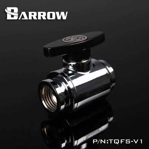 Barrow TQFS-V1 Black / Silver / White G1 / 4 MINI Handle Double Internal Sealing Ball Valve, Plastic Handle, Brass Body