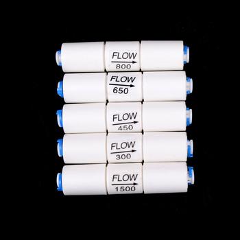 300CC-1500CC części filtra wody RO ogranicznik przepływu z 1 4 #8222 wąż szybkie połączenie maszyna do odwróconej osmozy hurtownie tanie i dobre opinie HUXUAN Union Flow Restrictor Z tworzywa sztucznego