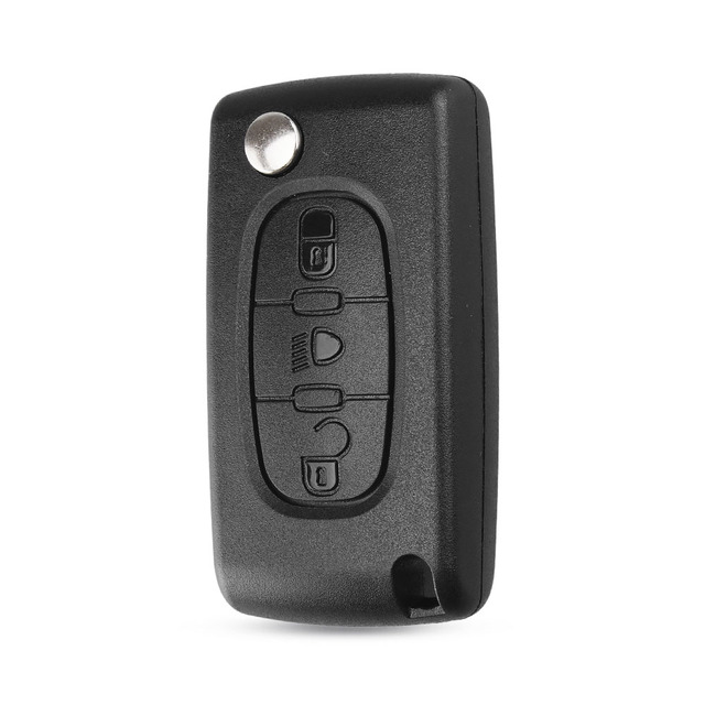 KEYYOU FOR Citroen C4 Picasso C5 C6 3 BUTTONS KEY FOB REMOTE CASE Light Symbol With Badge CE0536 Free Shipping