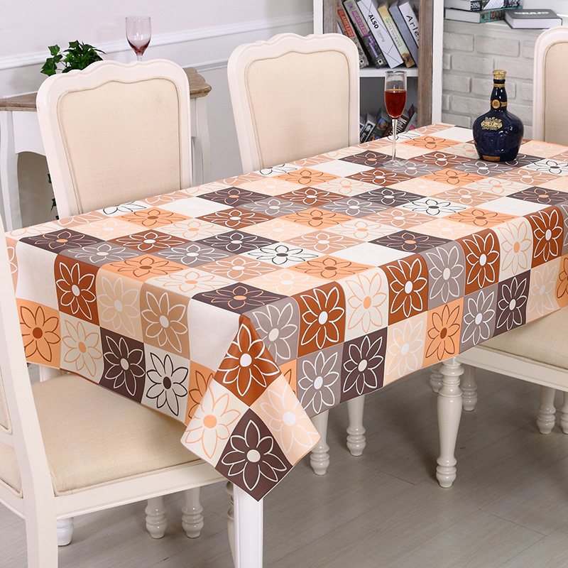 Pvc Waterproof Table Cloth Rectangle 2017 Oilproof Flowers