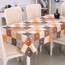 PVC Waterproof Table Cloth rectangle 2017 Oilproof Flowers dining Tablecloth Decoration Elegant kitchen Table Covers For Hotel