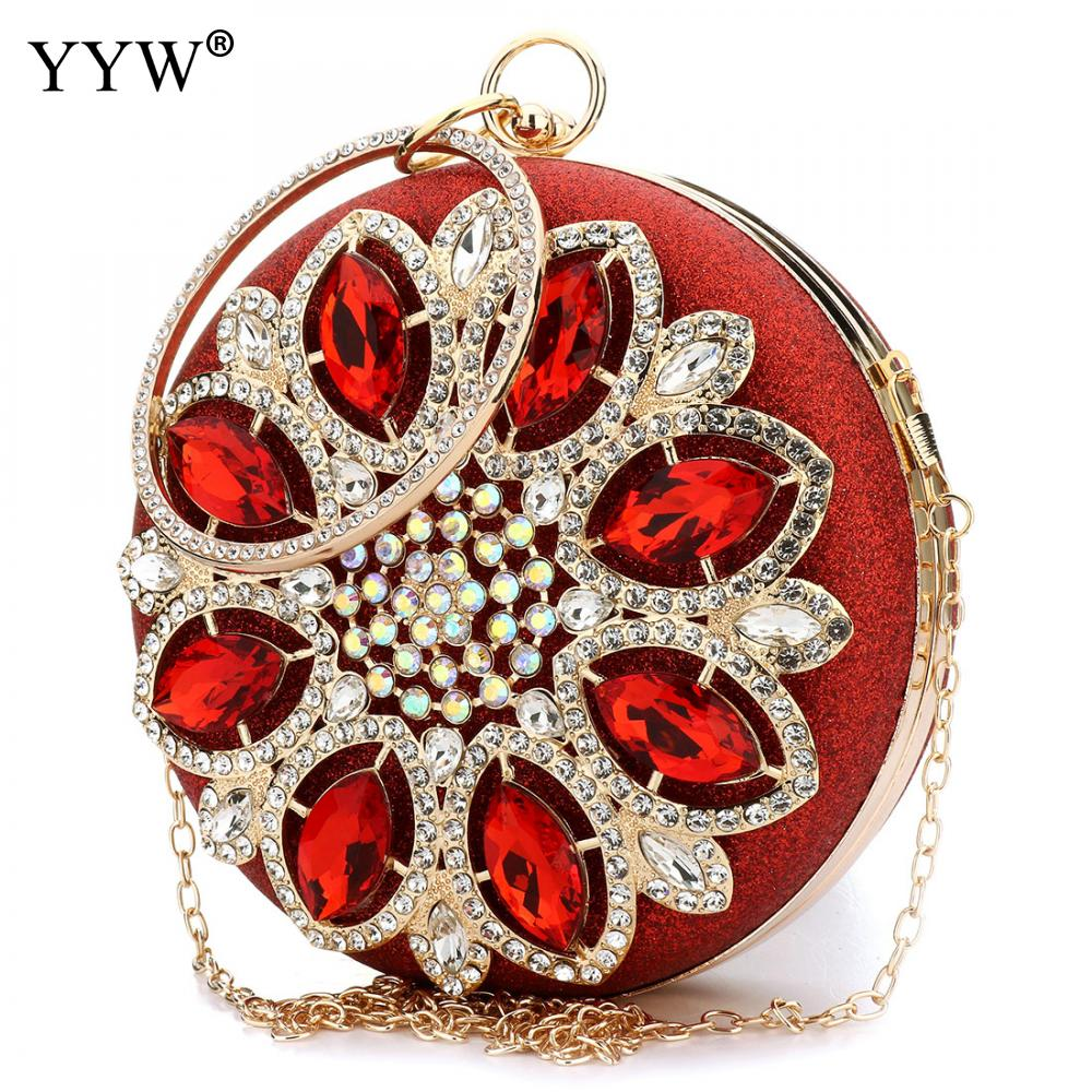Tiny Glass Beads Wristlet Bag Luxury Women Bags Red Evening Party Bag for Female Plastic Sequins Lady's Handbag Shoulder Bag