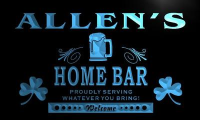 x1027-tm Allens Home Bar Custom Personalized Name Neon Sign Wholesale Dropshipping On/Off Switch 7 Colors DHL