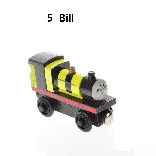 Деревянные магнитные паровозики, игрушки для железной дороги, деревянные паровозики для детей, подарок для детей, модель поезда - Цвет: Темно-синий