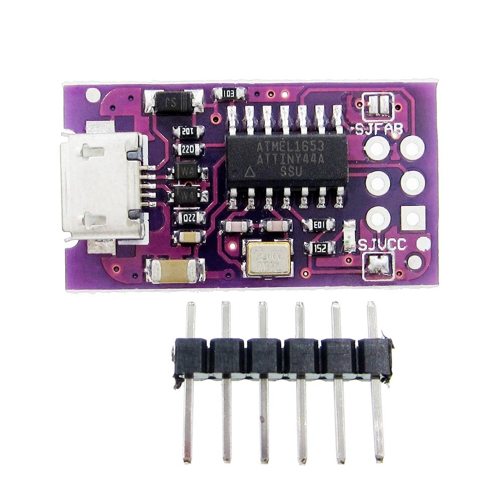 5PCS Micro USB Tiny AVR ISP ATtiny44 ATTiny45 ATTiny85 USBTinyISP Programmer Module For IDE Bootloader ISP Microcontroller 5V