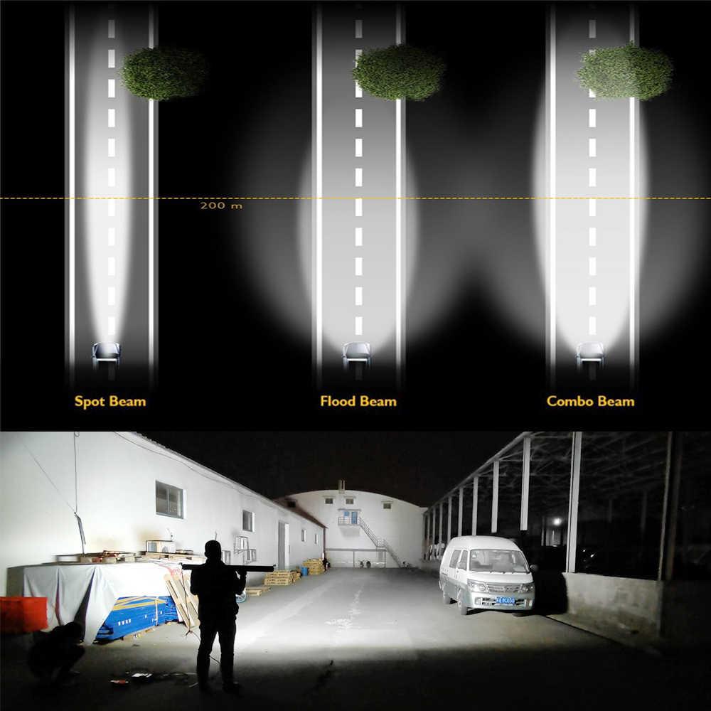 CO LIGHT 12D عالية الطاقة 3-Row عمود إضاءة led الطرق الوعرة 12 فولت 390 واط 585 واط 780 واط 936 واط 975 واط كومبو شعاع 4x4 قضيب مصابيح عملي للشاحنات ATV SUV قارب
