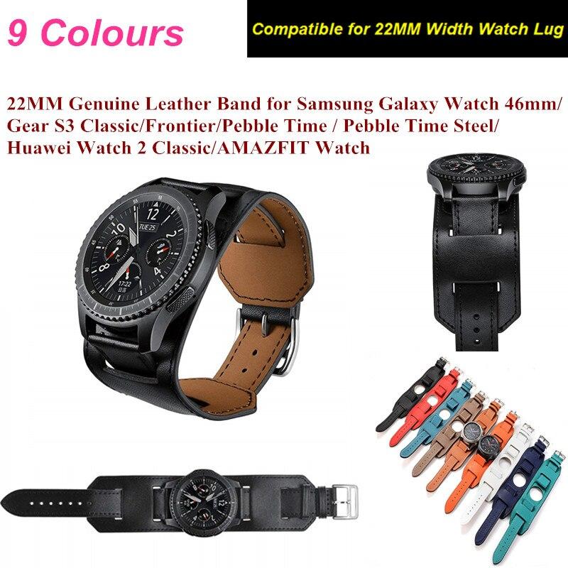Echtes Leder Band Für Samsung Galaxy Uhr 46mm 22mm Tour Armband Leder Armband armband für Getriebe S3 Klassische /Frontier