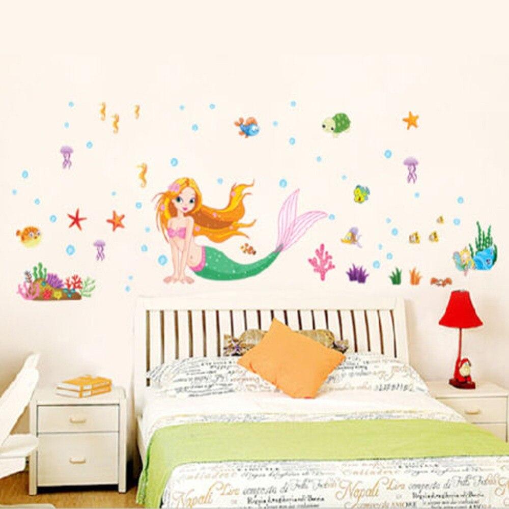Little Mermaid Bedroom Decor Princess Wall Promotion Shop For Promotional Princess Wall On