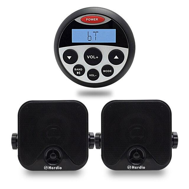 Marine Stereo Bluetooth Audio Boot AMFM Radio Motorfiets MP3 USB ...