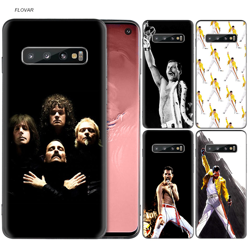 Freddie Mercury Queen band Case For Samsung Galaxy A6 A8 J4 J6 Plus A7 A9 J8 2018 Note 9 8 Mobile Phone Bag Cover Black