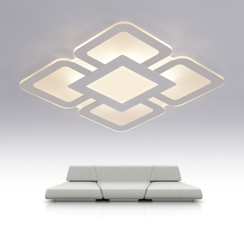 Modern Dimmable LED ceiling light Square rectangle living bedroom room lamp Business occasion Box LED home Luxury decor lighting soccer-specific stadium