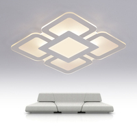 Modern Dimmable LED Ceiling Light Square Rectangle Living Bedroom Room Lamp Business Occasion Box LED Home Luxury Decor Lighting