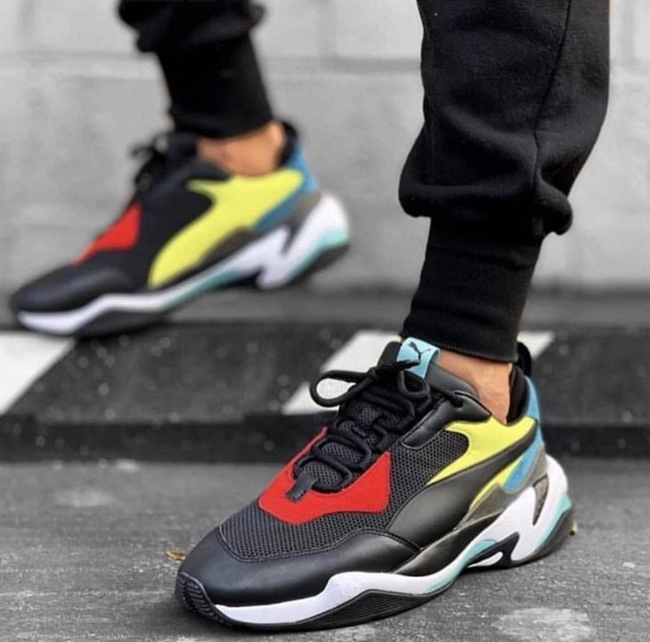 New Arrival PUMA Thunder Spectra Sneakers Men Women Sport Shoe Badminton Shoes Desert Retro Dad Shoes Drizzle Drizzle Steel Gray