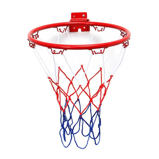 32cm 45cm Wall Mounted Hanging Basketball Goal Hoop Rim Net Metal