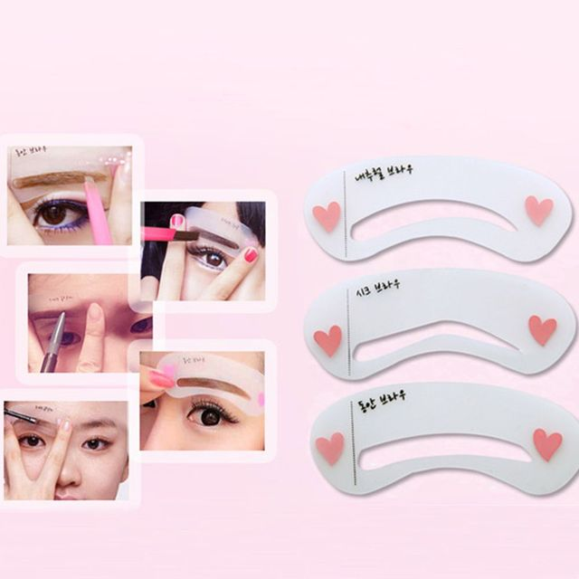 3 Styles Classical Eyebrow Template Reusable Grooming Stencil Beauty Make Up Tools DIY Highly durable 4
