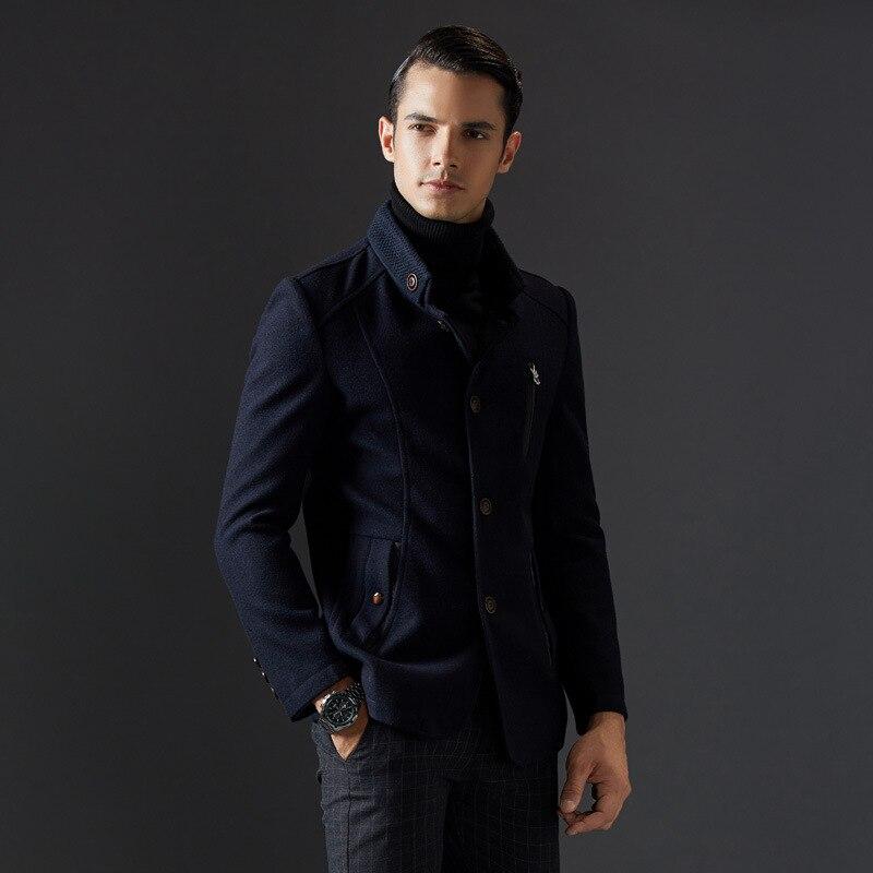 Classical Stand Homme Quality High Laine New Elegant Manteau Collar nagx4qwI 7c7bc81b2d1