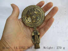 Chinas Tibet antique brass dragon. Belt buckle to ward off bad luck