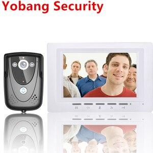 Видеодомофон Yobang, домофон для домашней безопасности, 7 дюймов, проводной дверной звонок для дома, функция ночного видения