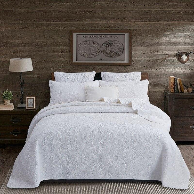 3/5 pièces 100% coton Chic couvre lit oreiller Shams réversible toutes les saisons Shabby matelassé look literie Ultra doux couverture de lit ensemble-in Couvre-lit from Maison & Animalerie    1