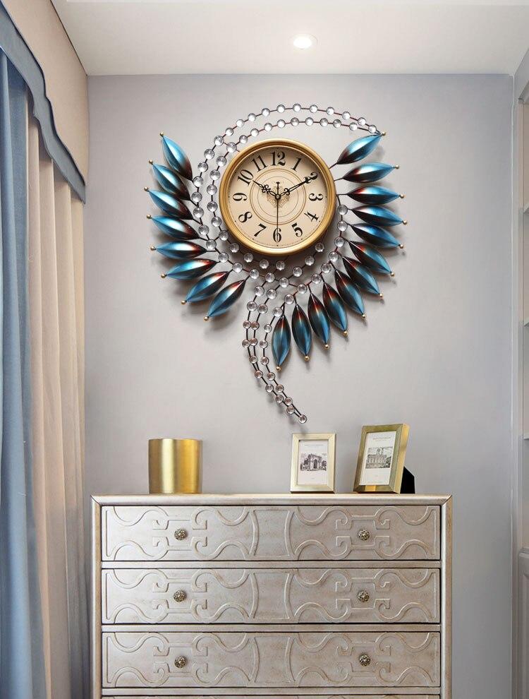 3d grande horloge murale Design moderne grande montre murale salon ornement mural grande horloge de luxe pour décor à la maison en métal Art horloge 88 6