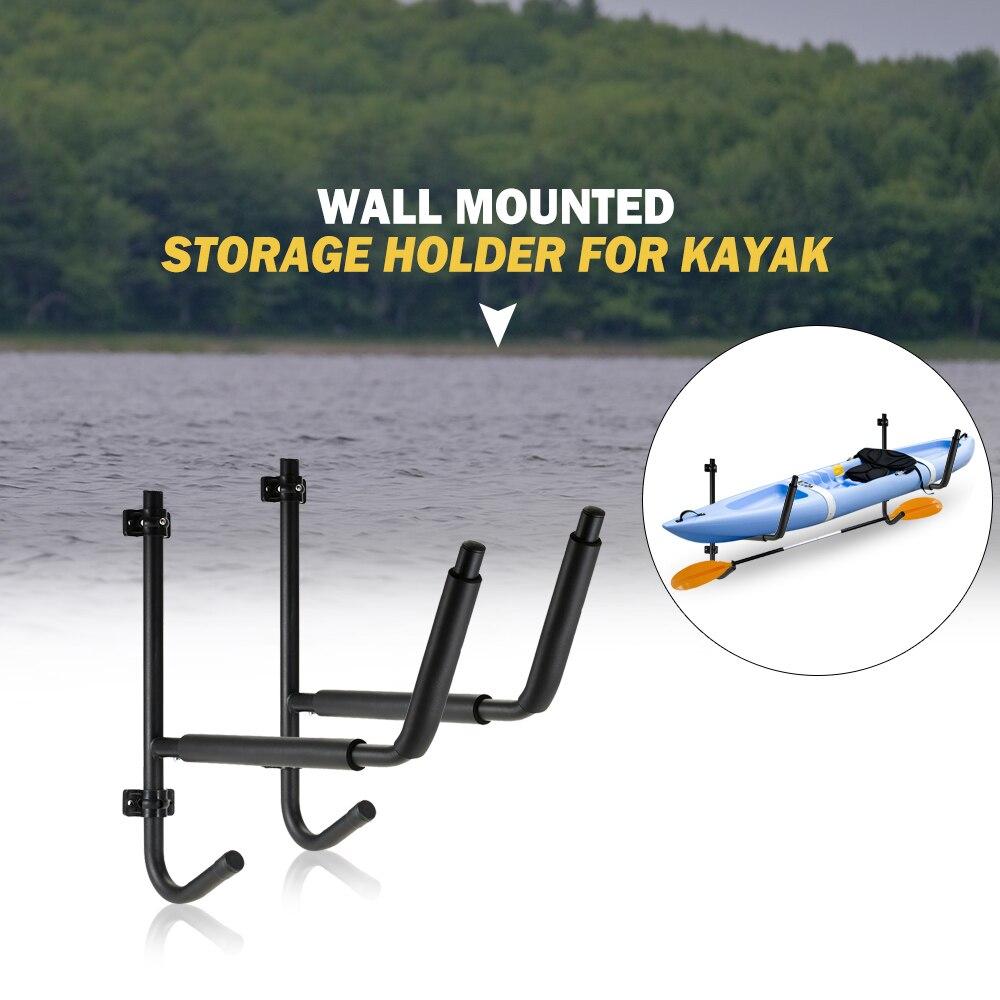 Heavy Duty Pliant Mur Monté Titulaire De Stockage pour Kayak et Paddle canoë Kayak Bateau Échelle En Acier Support Mural étagère de rangement