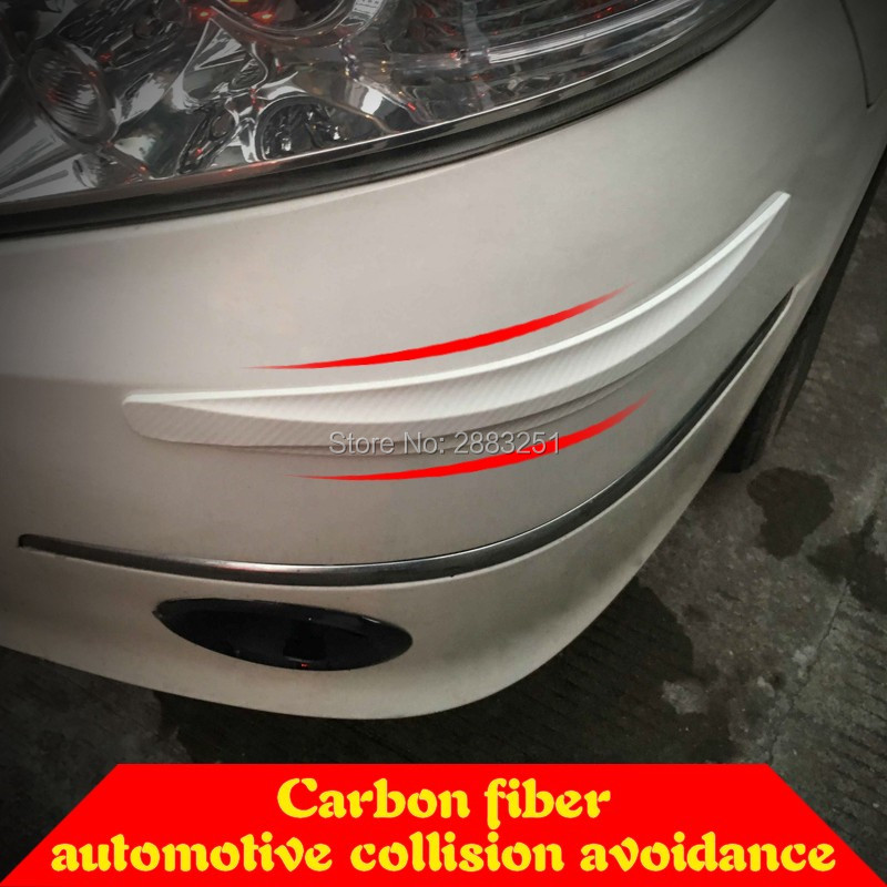 Car Bumper Corner Protector Accessories Door Guard Cover Lip Crash Bar Trim 2pc