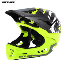 купить GUB New Off-road Mountain Full Face Bike Helmet Sports Safety Full Covered Helmets DH Helmet Downhill Bicycle Helmet 54-58CM дешево
