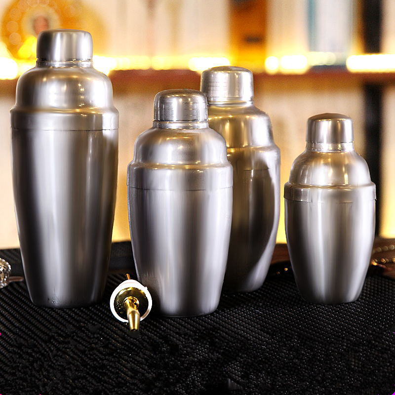 Stainless Steel Cocktail Shaker Cocktail Mixer Wine Martini Drinking Boston Style Shaker Party Bar Tools 250/350/550/750ml