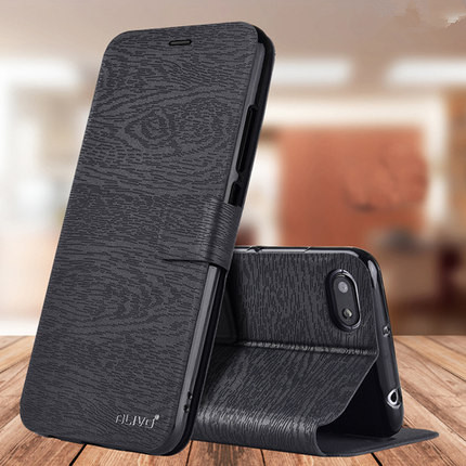 Xiaomi Redmi 6a Case Mixed Color Wallet PU leather flip Case for Xiaomi Redmi 6a Cover Fashion Denim Fabric Bussiness Phone Bag(China)