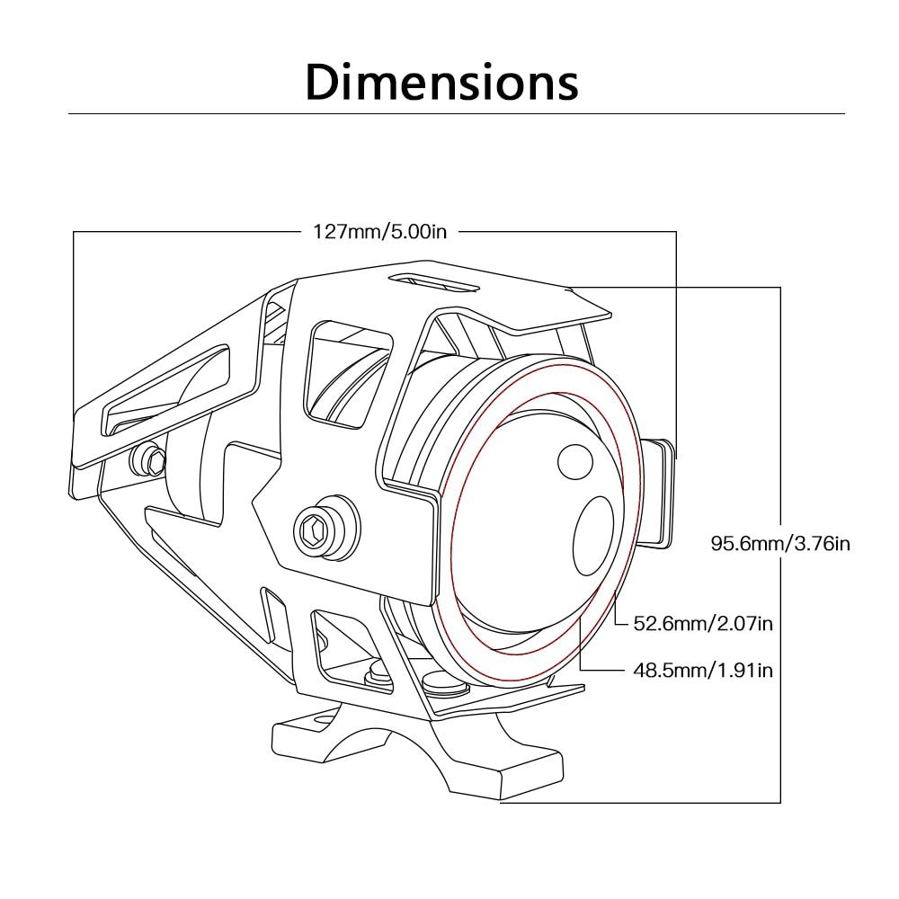 hight resolution of universal 12v motorcycle metal headlight fog light for yamaha mt 03 mt 07 mt 09 xj6 ybr 125 honda cbr600f cb400 on aliexpress com alibaba group