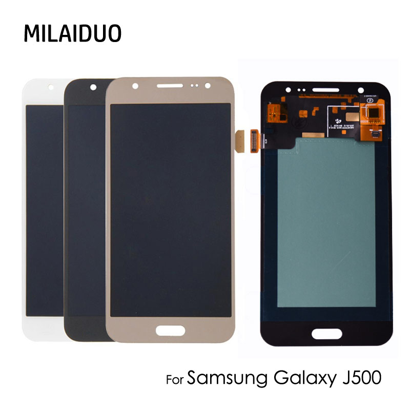 <font><b>AMOLED</b></font>/TFT LCD Display For Samsung J5 2015 <font><b>J500</b></font> SM-J500FN J500F J500FN J500M J500H J500Y OLED Touch Screen Digitizer Adjustable image