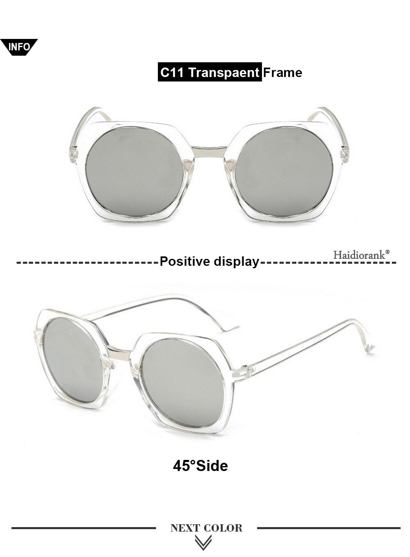 HONG Occhiali da sole di piccole dimensioni, di vetro piatto piede cucitura occhiali da sole, B