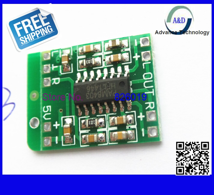 1pcs PAM8403 Audio Module DC 5V Mini Class-D digital amplifier board efficient 2.5 to 5V USB power supply