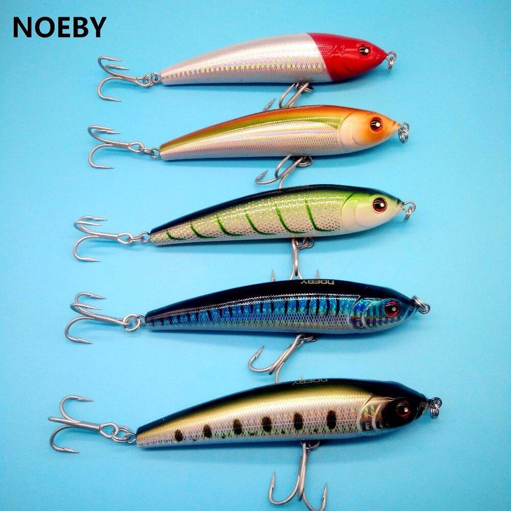 NOEBY 1 PCS/LOT amortissement pencil leurre de pêche 70g/140mm 5 couleurs 3D Yeux Variable naufrage Leurre Dur Peche Wobbler Appât
