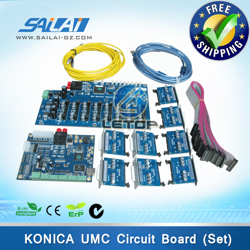 цена Free shipping!! a set inkjet printer konica 512 printhead umc board ver.1.4d for jhf printer konica 8 head printer board