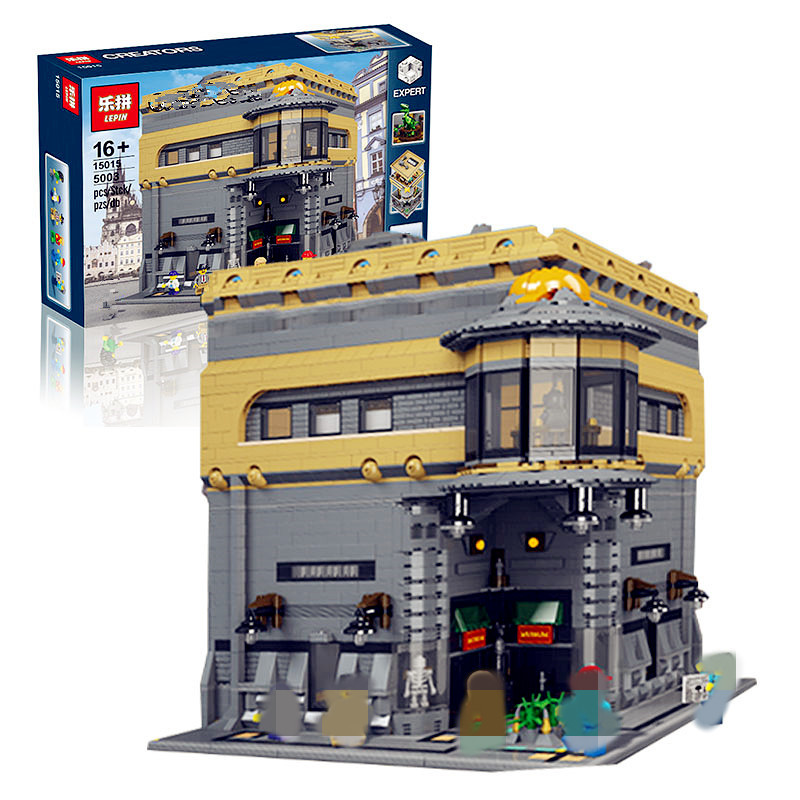 2017 LEPIN 15015 5003Pcs City  Street The Dinosaur Museum Model Building Kits Blocks Bricks Compatible Children Toys Gift lepin 02012 city deepwater exploration vessel 60095 building blocks policeman toys children compatible with lego gift kid sets