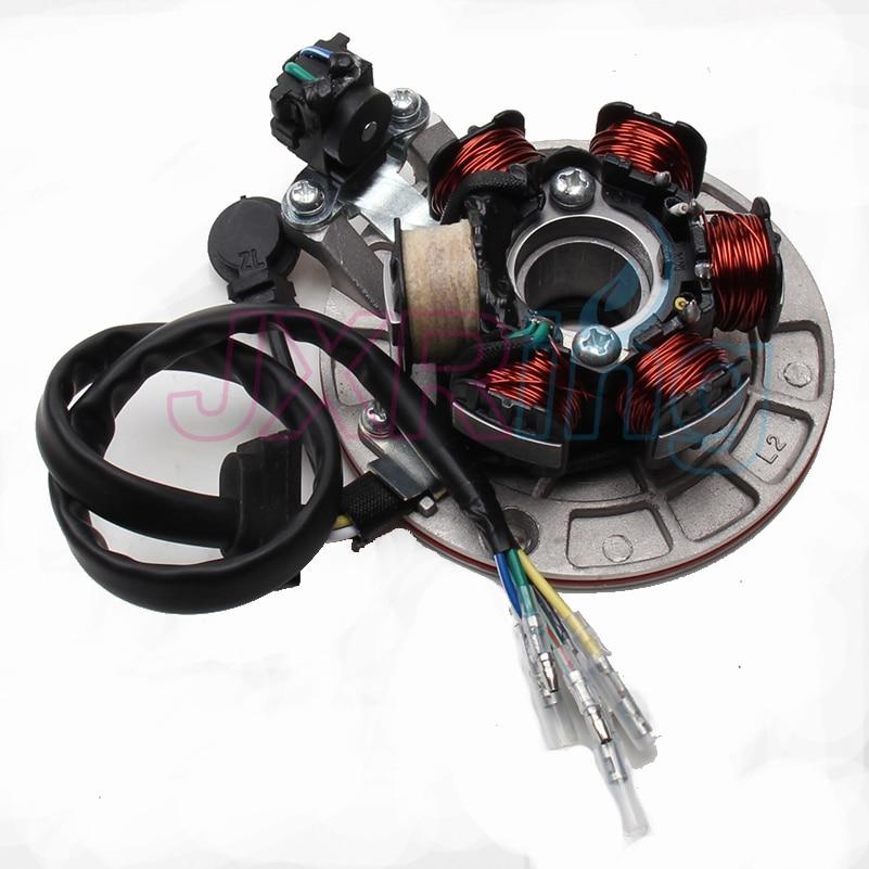 Magneto Stator Fit To (LF LIFAN 140cc Kick-start Engine) KAYO BSE Pit Pro Automic Dirt Pit Bike Electric Parts free shipping средство защиты от комаров раптор комплект прибор жидкость 30 ночей 10 пластин