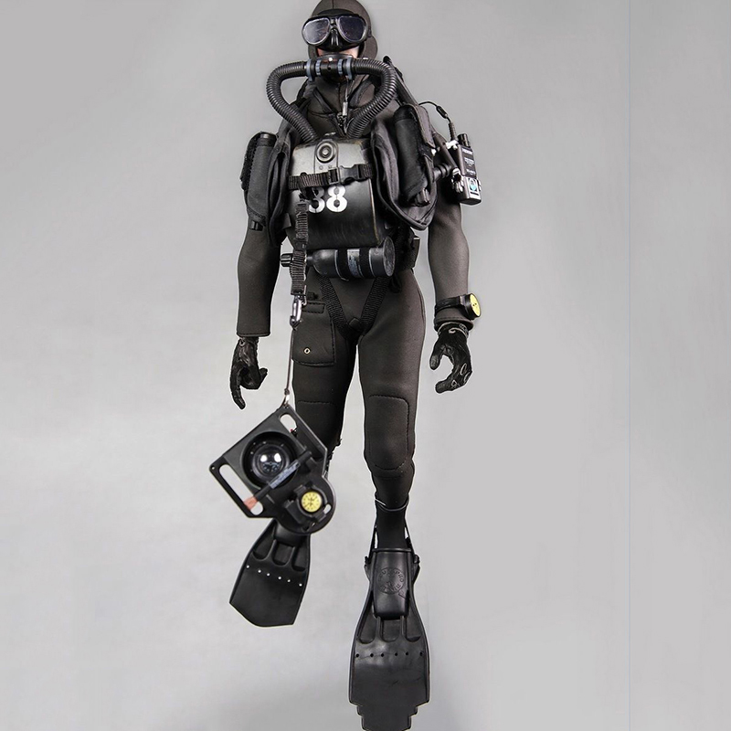 1:6 Scale Combat Diver Set Frogman Set Seal Water Ghost Soldier Clothes Model Clothing Toy for 1/6 Action Figure фигурка planet of the apes action figure classic gorilla soldier 2 pack 18 см