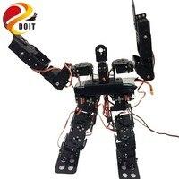 17DOF Biped Robotic Educational Robot Humanoid Robot Kit Servo Bracket Ball Bearing Black Free Send Source Code for DIY