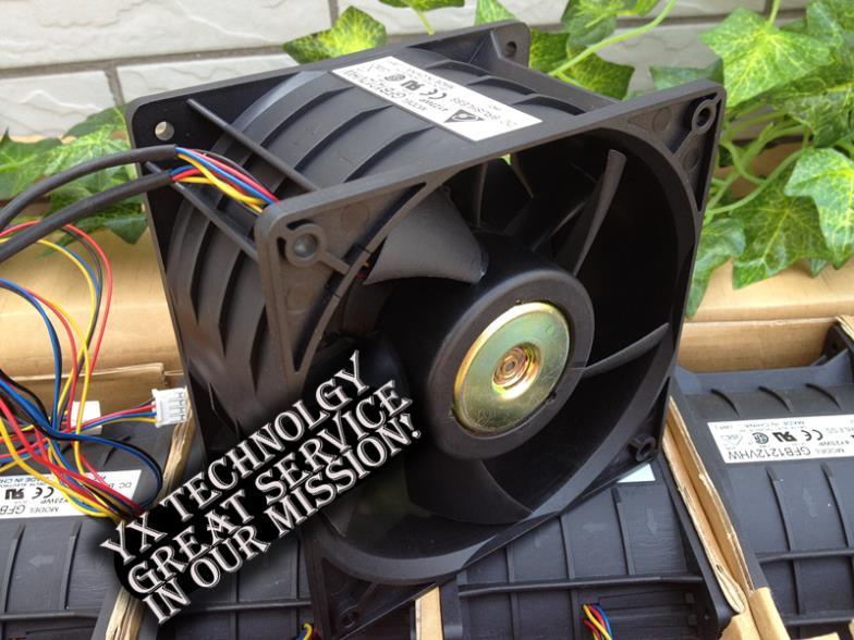 ФОТО New 12CM 12076 double motor car modification dedicated 3.98A DC12V GFB1212VHW 120*120*76mm