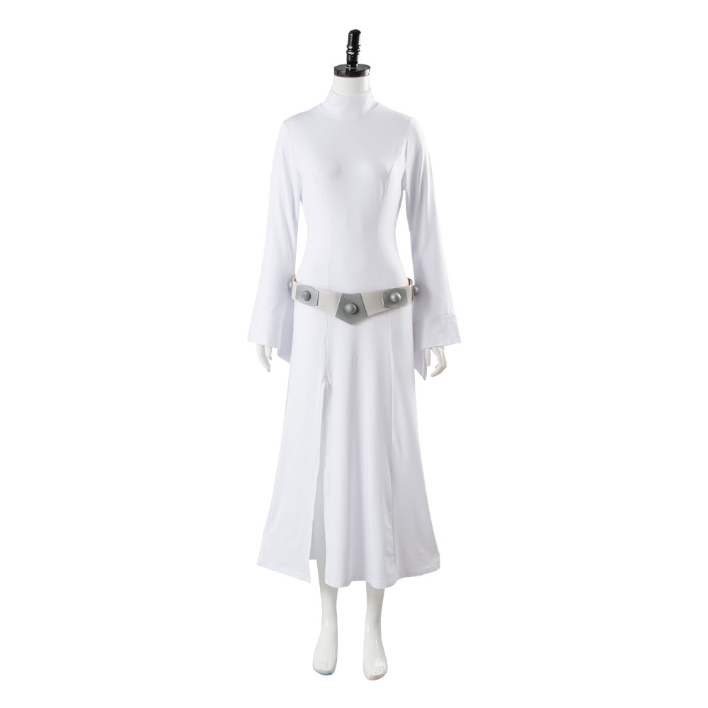 Adult Women Star Wars Cosplay Princess Leia Costume Halloween Cosplay Full Sets Halloween Carnival Costume With Dress Belt Wig