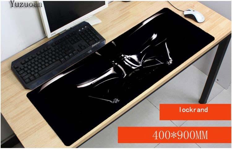 Yuzuoan Natural Rubber Star War Computer Gaming Mouse Pad Darth Vader Print Locking Edge Large Mousepad for Cs Go WOT MauseMat