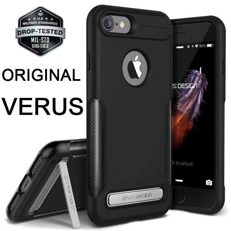 Original VERUS Rugged Armor Case for Apple iPhone 7 7 Plus Shockproof Carbon Fiber and Silicone