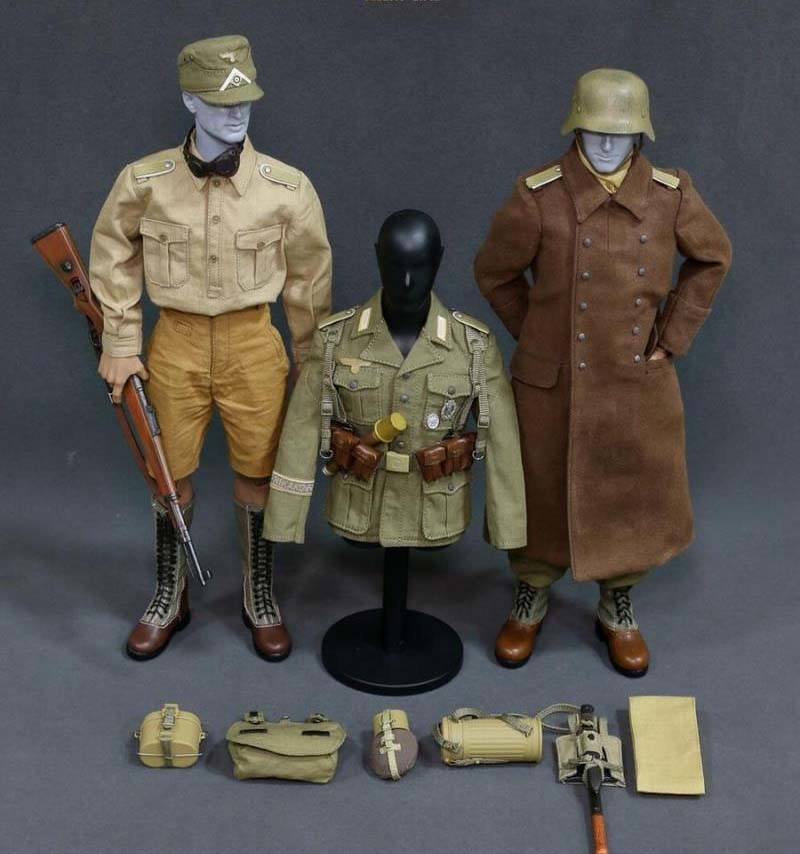 Mnotht 1/6 Solider WWII Afrika Korpsthe Uniform Suit Clothes AL100013 Clothes For 12in Action Figures Male Glue Body  l30 mnotht toy 1 6 wwii solider model wrath of brad pitt head carved military figures tanks suit clothes l30