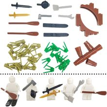 City Military Accessory Building Blocks MOC Weapon DIY Green Bush Grass Plants Knights Sword Kitchenware Pan Block Toy LegoINGly(China)