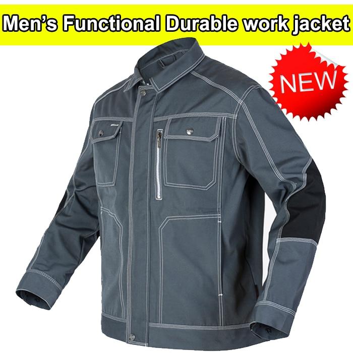 High quality durable Mens multi pocket dark grey  work  jacket workwear mechanic construction Jacket men  free shipping inc women s multi pocket glow pants 16w sky grey